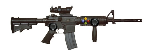 Just as ridiculous as the Xbox Silent Scope Rifle
