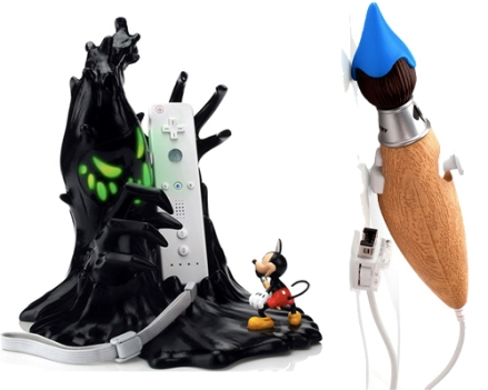 Epic Mickey Wii Controller and Charger